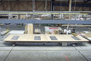 hoher Vorfertigungsgrad bei Holzbauelementen