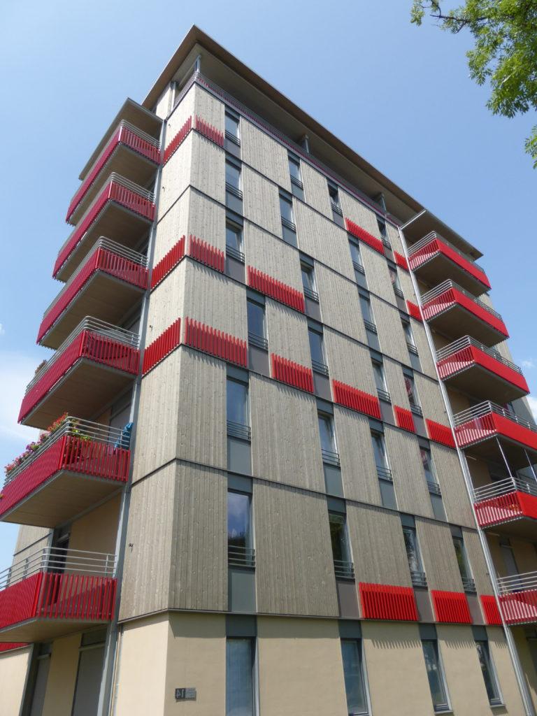 Im mehrgeschossigen Holzbau bis zu 8 Stockwerke hoch