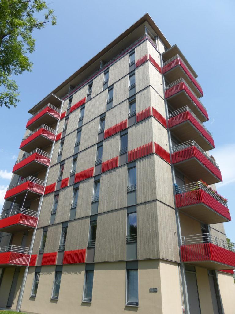 ökologische Mustersiedlung in München Bogenhausen durch mehrgeschossiges Bauen in Holzbauweise