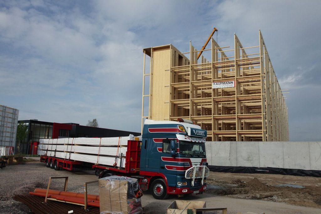 Hochregallager aus Holz - Kaufmann Bausysteme