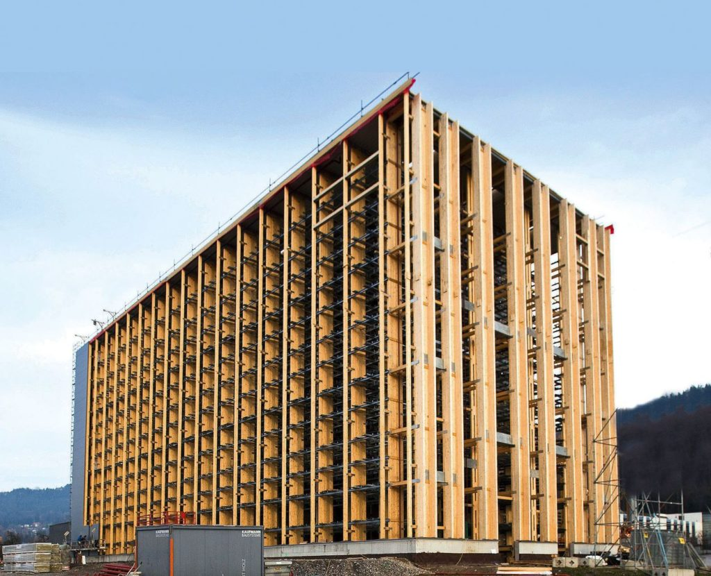 Hochregallager Holzbau