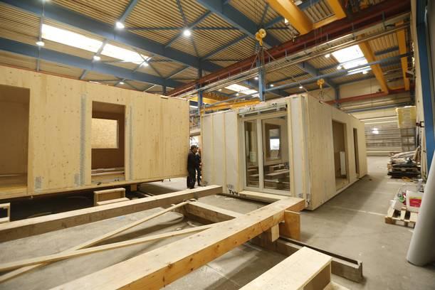 kurze Bauzeit durch Holzmodulbauweise