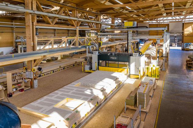 Fertigungslinie Holzbau Gumpp & Maier